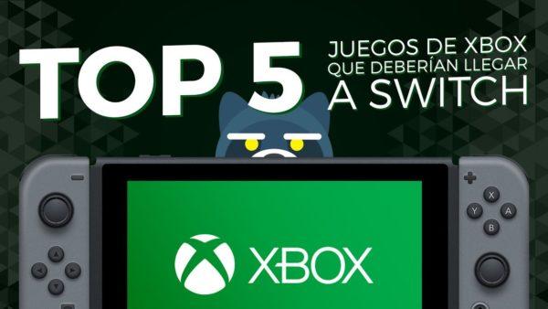 Top 5 Juegos de Xbox que deberían llegar a Nintendo Switch
