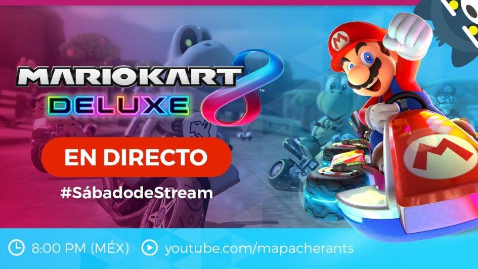 #SábadodeStream Retas de Mario Kart 8 Deluxe CON SUBS