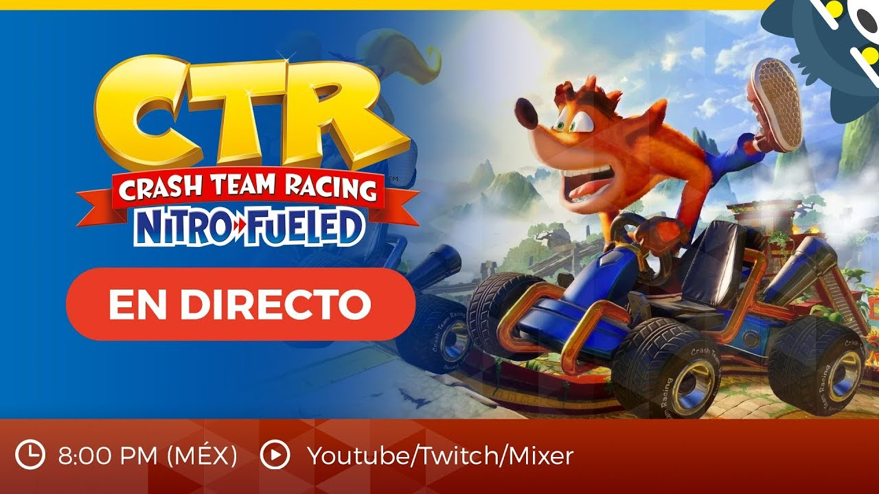 ¡Vamos a jugar Crash Team Racing Nitro-Fueled en Nintendo Switch!