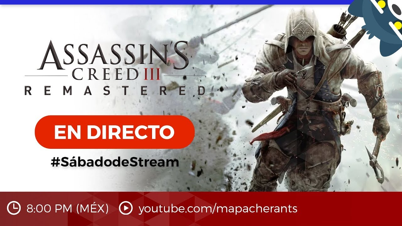 #SábadodeStream Assassin's Creed III Remastered en Nintendo Switch